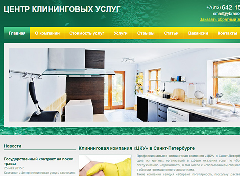 Website for the Cleaning Service Center